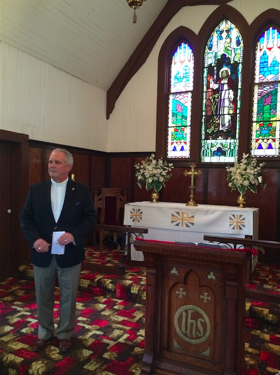 Rev. Dean Houghton at St. Peter's